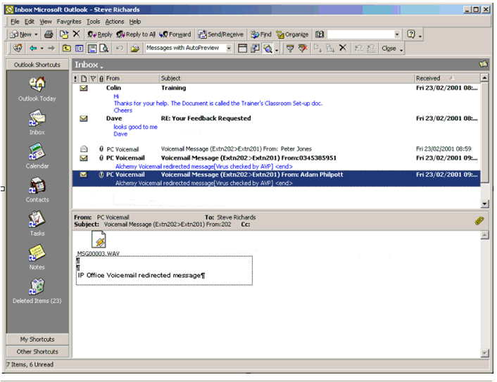 voicemail with email systems
